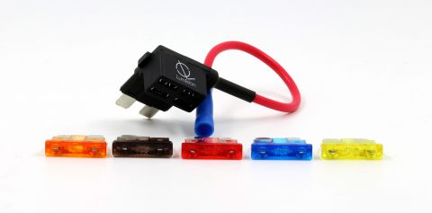 ADD A CIRCUIT ATO ATC FUSE TAP Add ON DUAL CIRCUIT ADAPTER AUTO CAR TERMINAL + FUSE SET 5, 7.5, 10, 15, 20 AMPS