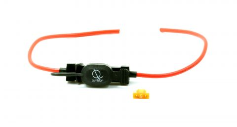 16 AWG Low Profile Mini Blade Style APS ATT Fuse Holder Car / Boat + 5A Fuse