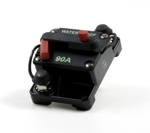 Lumision Waterproof Automotive Circuit Breaker Manual Reset 12-48VDC 90A