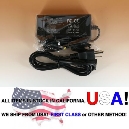 AC 100-240V To DC 12V 5A 5 Amp Power Supply Adapter for LCD Monitor 5.5 x 2.5mm