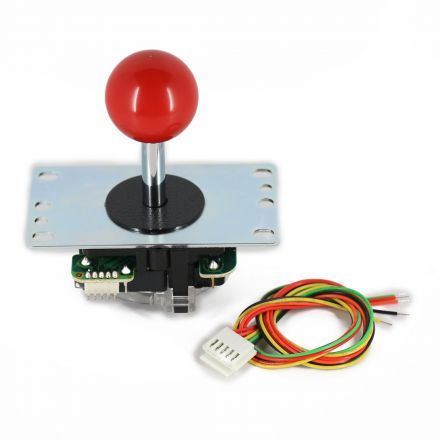 Sanwa JLF-TP-8YT Joystick with Red Ball Top
