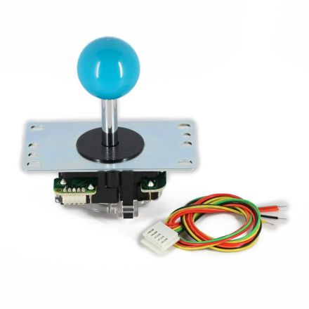 Sanwa JLF-TP-8YT Joystick with Blue Ball Top