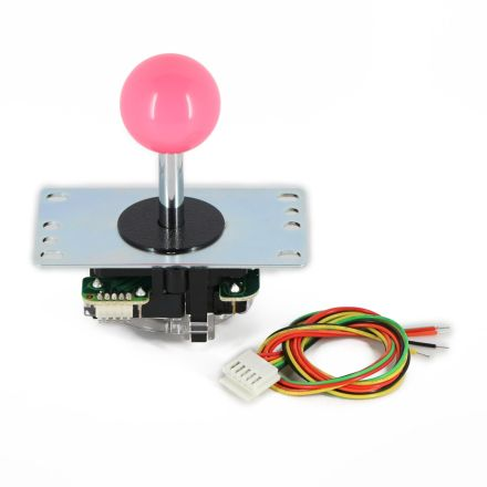 Sanwa JLF-TP-8YT Joystick with Pink Ball Top