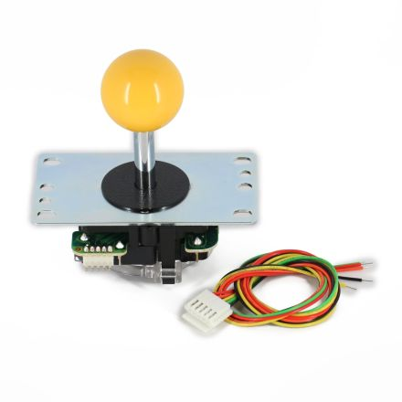 Sanwa JLF-TP-8YT Joystick with Yellow Ball Top