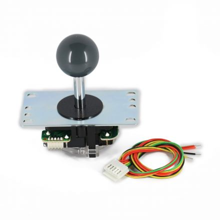 Sanwa JLF-TP-8YT Joystick with Gray Ball Top