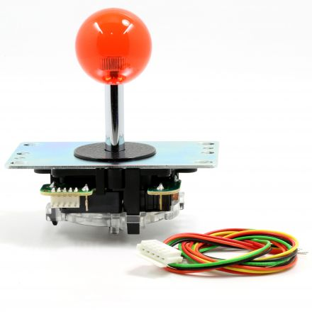 Sanwa Red Crystal Ball Top Joystick