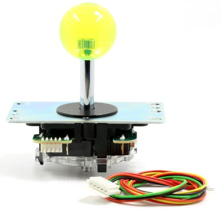 Sanwa Yellow Crystal Ball Top Joystick