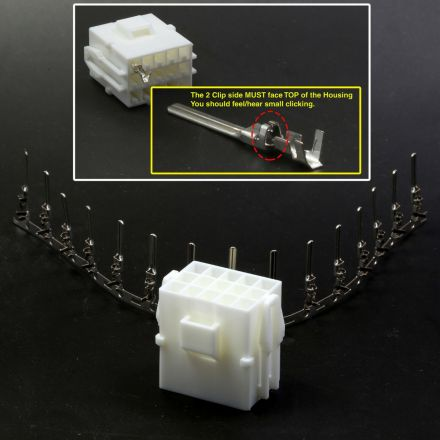 JST YLR-15V Female Housing with Male Pins Vewlix Harness Connector Control Panel