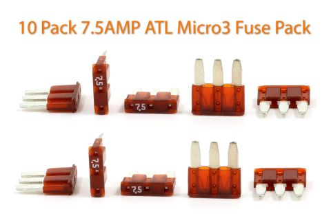 Automotive ATL (Micro3) - 7.5A Fuses - Pack of 10