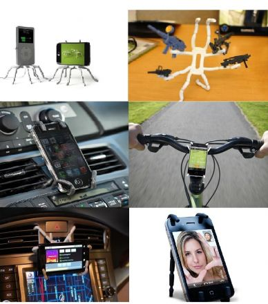 Universal Flexible Grip CAR / DESK Stand Mount Hanger Holder for SmartPhone GPS MP3 (WHITE)